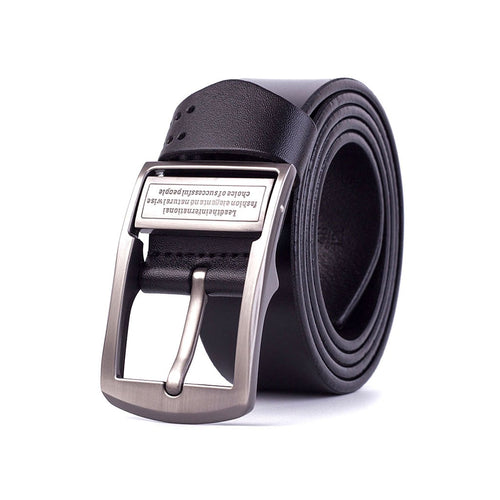 Men Smooth Leather Belt