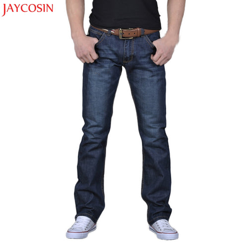 Men's Casual Loose Fit Blue Jeans