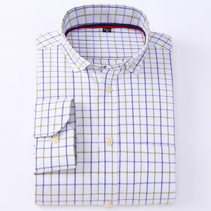Shirt Plaid Stripe Solid Casual Oxford