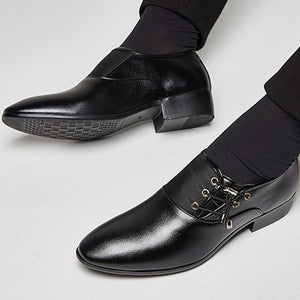 Elastic Band Leather Shoes