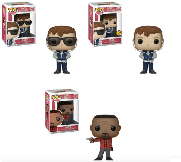 Baby Driver Pop Movies! Full Wave/Case Bundle-Preorder-Due in July