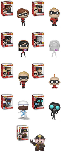 Incredibles 2 Pop Movies! Full Wave/Case Bundle-Preorder-Due in May
