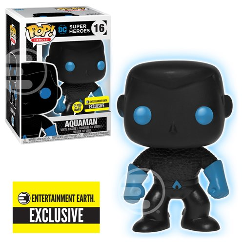 Justice League Aquaman Silhouette Glow in the Dark Pop!-EE Exclusive-In Stock