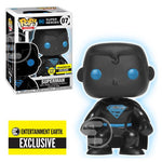 Justice League Superman Silhouette Glow in the Dark Pop!-EE Exclusive-In Stock