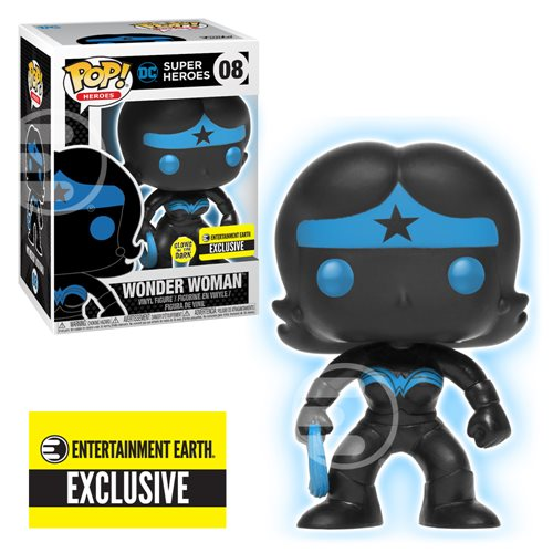 Justice League Wonder Woman Silhouette Glow in the Dark Pop!-EE Exclusive-In stock