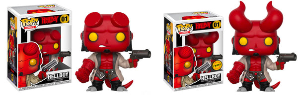 Hellboy with Jacket w/ Chase Pop Comics! Vinyl Figure #01-In Stock