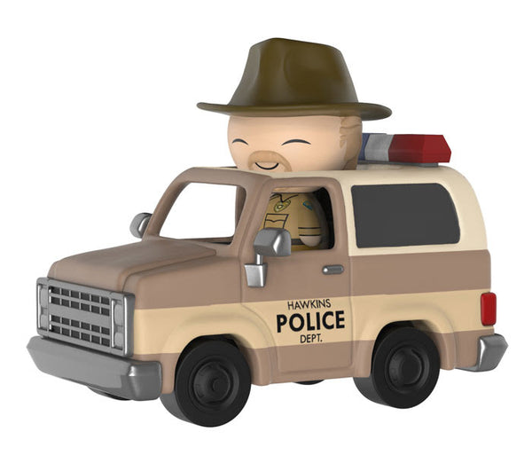 Stranger Things Hopper with Sheriff Deputy Truck Dorbz Ridez Figure-In Stock