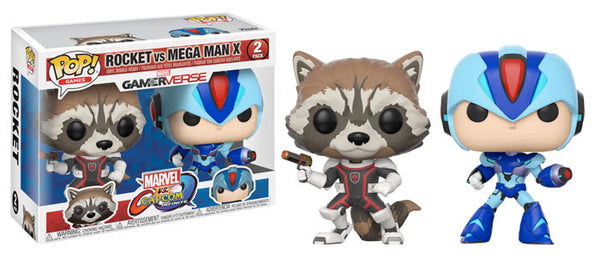Marvel Vs Capcom Rocket Vs MegaMan Pop! Vinyl 2-Pack-In Stock