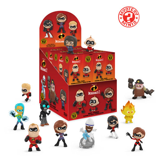 Incredibles 2 Mystery Minis Display Case of 12-Free Shipping-Preorder-Due in May