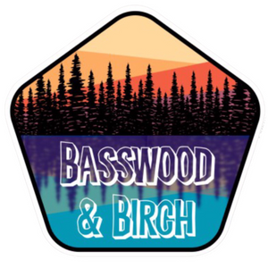Basswood and Birch on the Lake Sticker