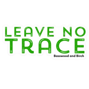 Leave No Trace Die-Cut Sticker