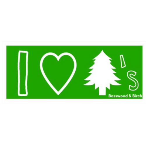 I Love Trees Sticker
