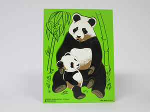 Panda and Cub Child's Puzzle Wooden 10 pieces (Judy/Instructo)(1990)