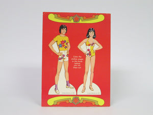 Donny & Marie Coloring Book with cut-out paper dolls on the back