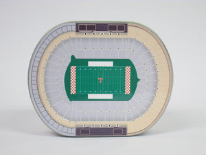 University of Tennessee Neyland Stadium Tin with history on the bottom