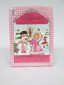 The Ginghams Paper Doll and Play Set Becky's Winter Carnival