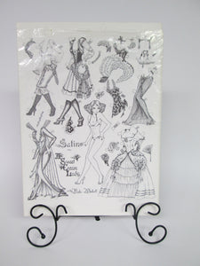 Satin A Sweet Cream Lady Fairytale Paper Doll 2 Sheets rare