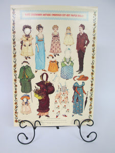 Kate Greenway Antique Embossed Cut-Out Paper Dolls Sheet
