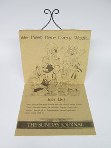 Sunday Comics Advertisement for the Sunday Journal including Garfield Hagar Peanuts etc