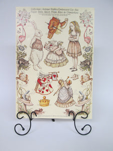 Collector's Antique Replica Embossed Cut-Out Paper Dolls Sheet from Alice-In-Wonderland