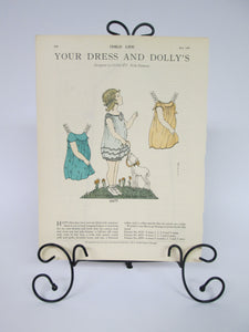 Child Life 1930 Paper Doll page rare