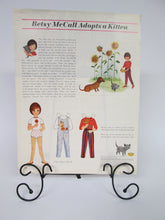34 pages of Betsy McCall Paper Dolls from different McCall's Magazine rare 1955 to 1962