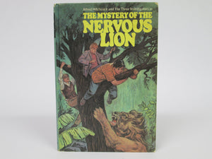 Alfred Hitchcock and the Three Investigators in The Mystery of the Nervous Lion by Nick West (1971)