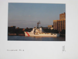 John W Golden Diligence No 2 signed photo of a Coast Guard Ship