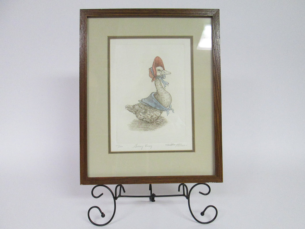 Goosey Lucy by Martha Hinson 277/300 Framed
