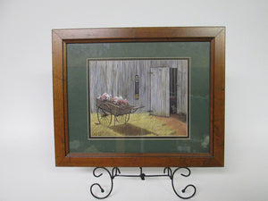 Flower Cart by Kathleen Green with Certificate of Authencity 319/700 Framed