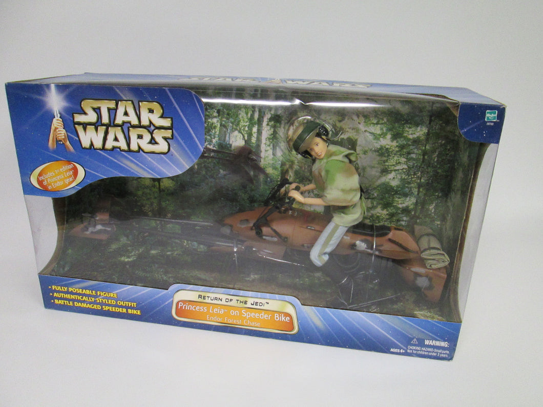 Star Wars Return of the Jedi Princess Leia on Speeder Bike Endor Forest Chase (2003)