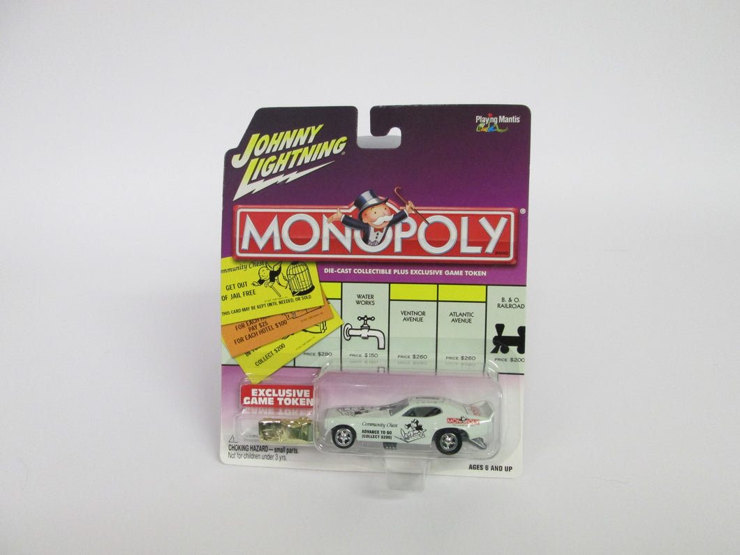 Johnny Lightning Monopoly Release 3 W\ Exclusive Game Token '71 Satellite Funny Car (2002)