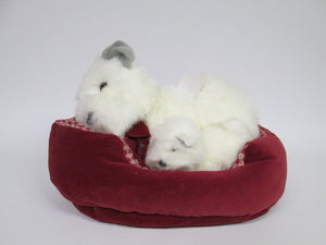 Stuffed Dog and Puppy in Dog Bed (Commonwealth)