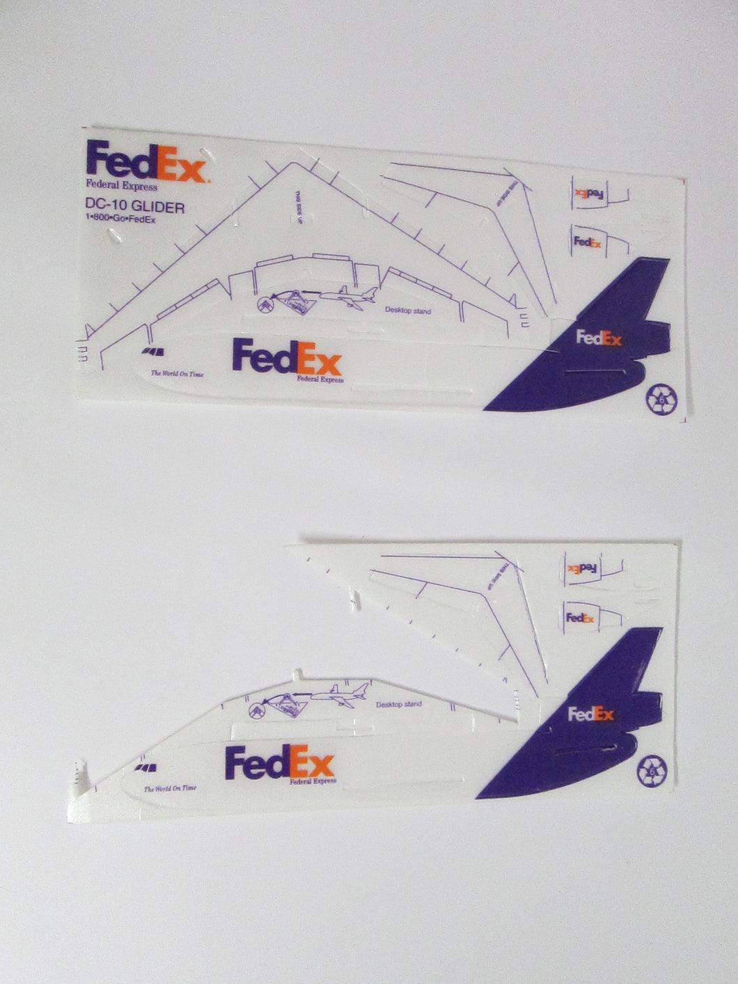 FedEx DC-10 Glider Styrofoam with extra parts
