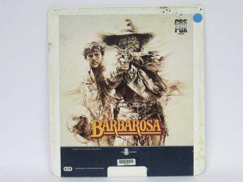 Barbarosa Video Laser Disc starring Willie Nelson and Gary Busey (CBS Fox Video)(1982)