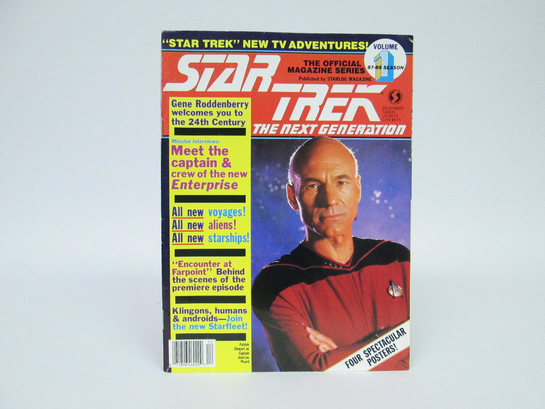 Star Trek The Next Generation Magazine #1 Four Spectacular Posters (1987)