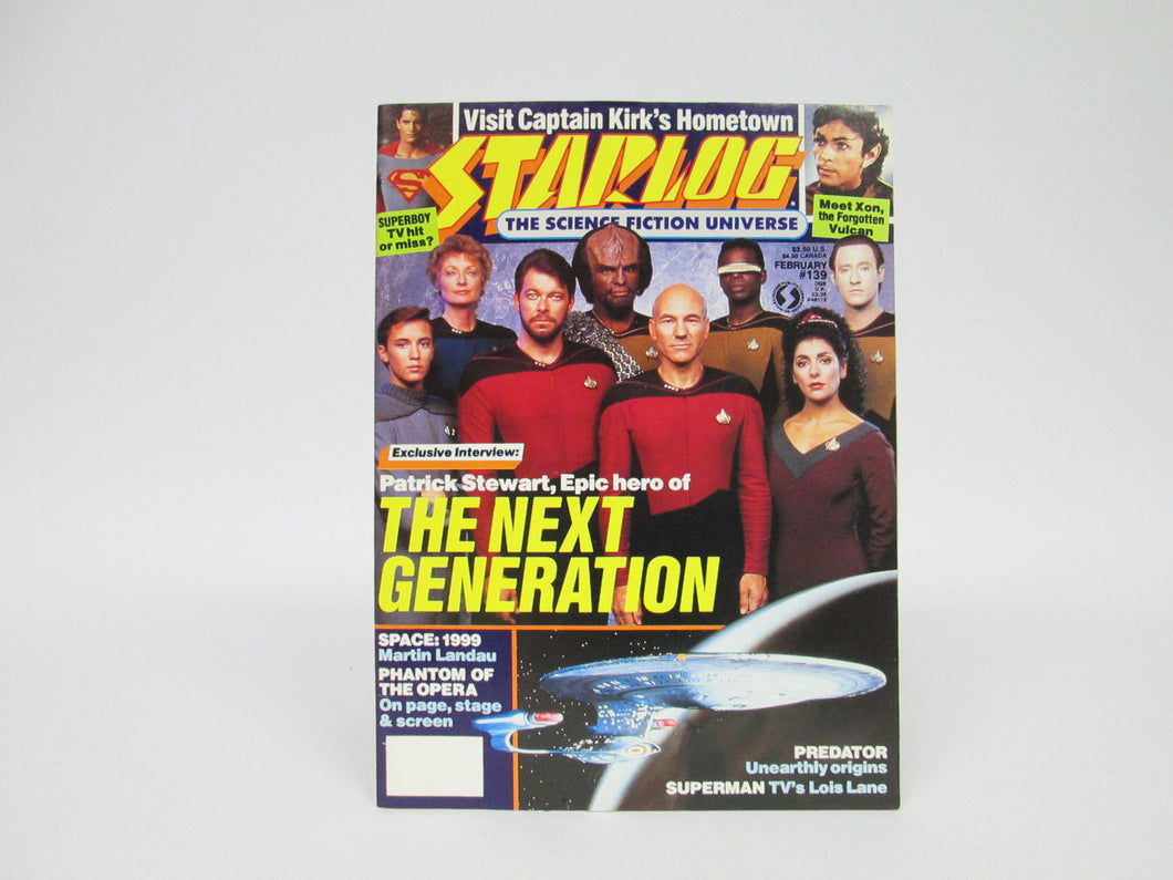Starlog Magazine featuring Star Trek The Next Generation #139 (1989)