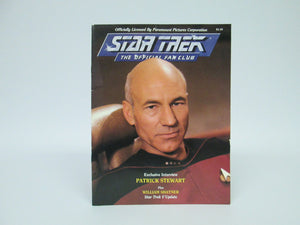 Star Trek The Official Fan Club Exclusive Interview Patrick Stewart Plus William Shatner #61 (1988)