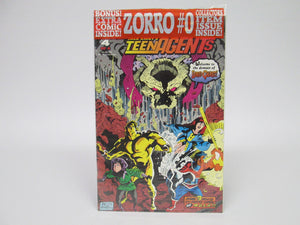 Jack Kirby's TeenAgents #4 with bonus Zorro #0 & 2 Topps Cards Sealed Pack