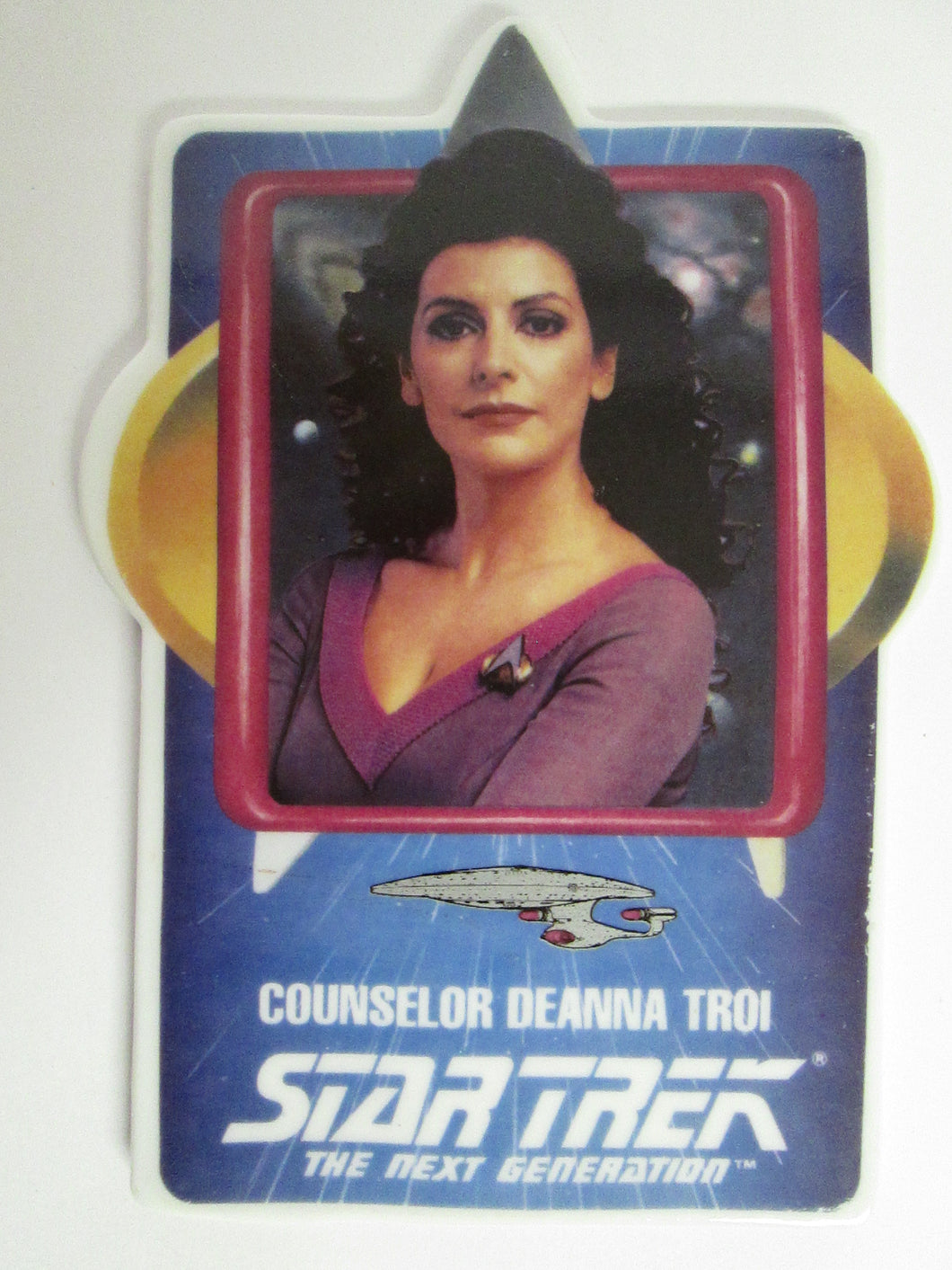 Star Trek The Next Generation Counselor Deanna Troi Collector Ceramic Card Plate (1992)