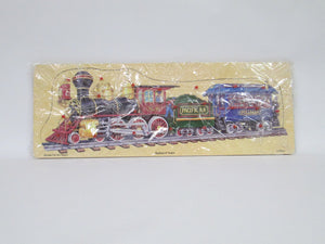 Railroad Train Wooden Pull-Out Puzzle (2002)