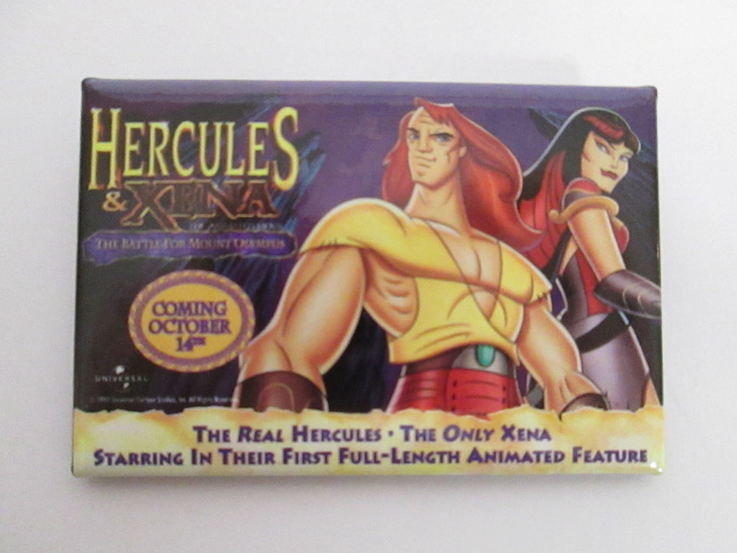 Hercules & Zena Movie Button/Pin