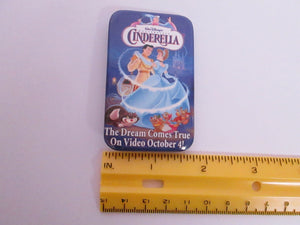 Cinderella on Video Button/Pin