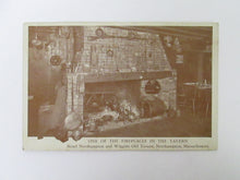 Vintage Post Card One of the Fireplaces in the Tavern Hotel Northhampton and Wiggins