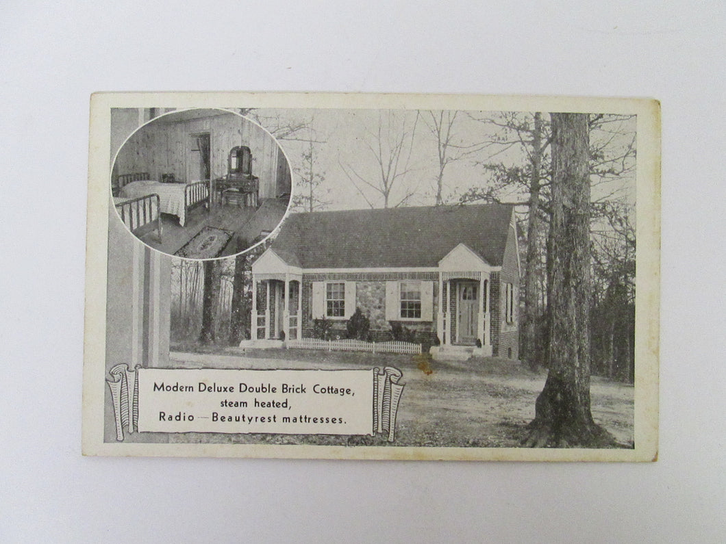 Vintage Post Card Modern Deluxe Double Brick Cottage Dutch Gap Tourist Court Richmond VA