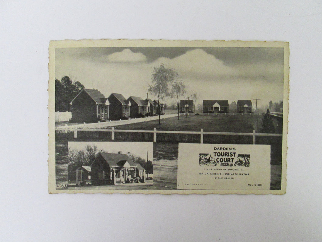 Vintage Post Card Darden's Tourist Court Emporia VA
