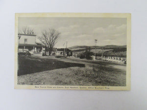 Vintage Post Card New Tourist Hotel and Cabins Hereford Quebec