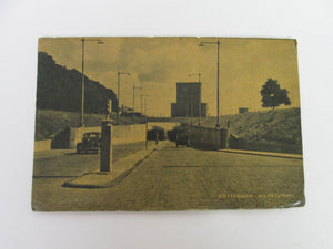 Vintage Post Card Rotterdam Maastunnel Holland