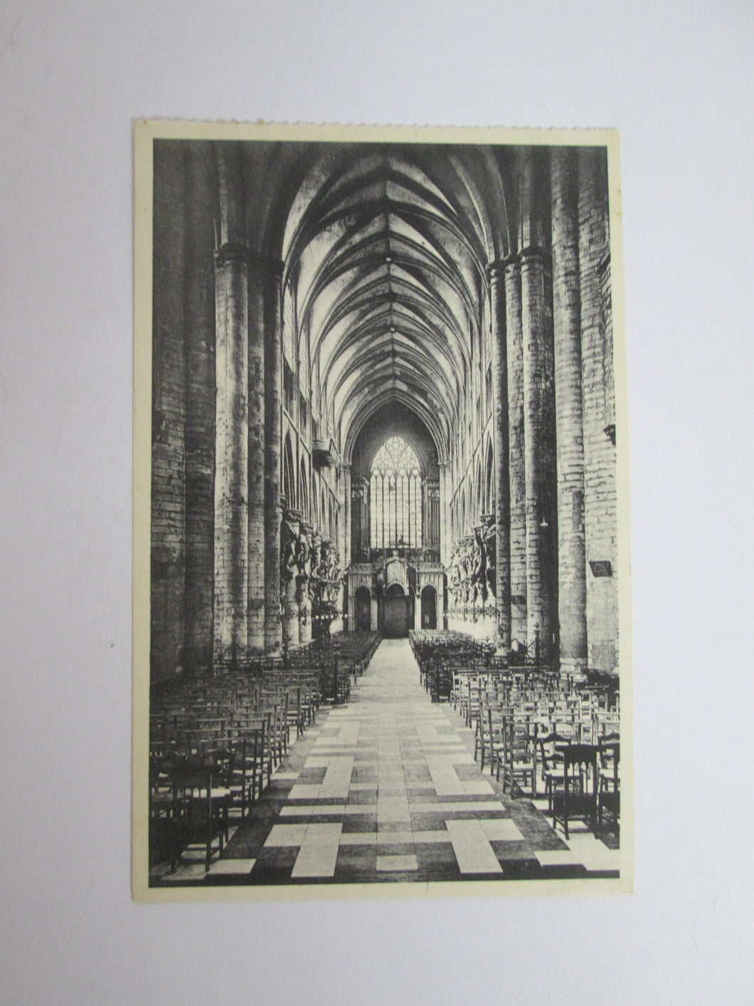 Vintage Post Card Brussels Collegiate of S S Michael and Gudule - Chief Aisle
