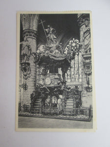 Vintage Post Card Brussels Collegiate of S S Michael and Gudule - The Pulpit